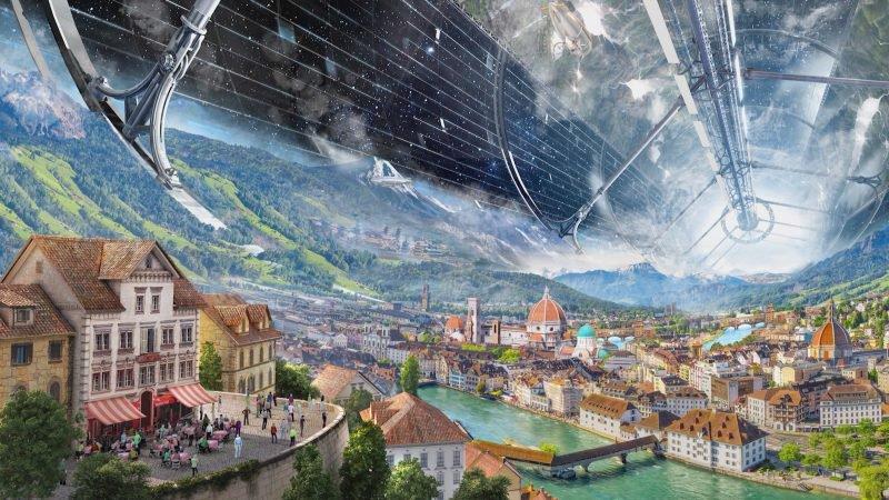 Amazon Blue Origin Джефф Безос колонизация луны орбитальные колонии