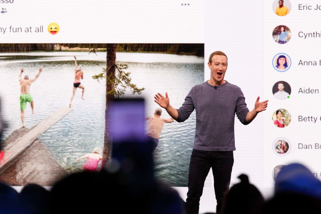 Марк Цукерберг Facebook редизайн 15 лет