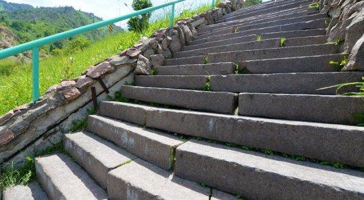 Алматы Медео лестница здоровья город реставрация улучшение