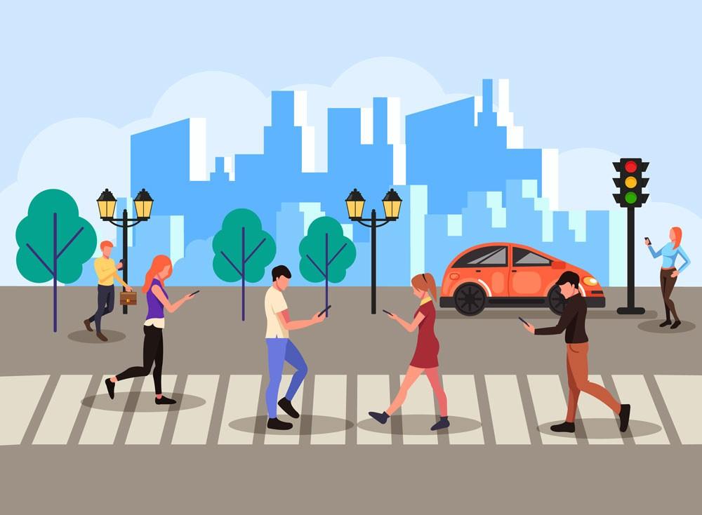 Штраф за использование гаджетов при переходе улиц хотят ввести в Нью-Йорке