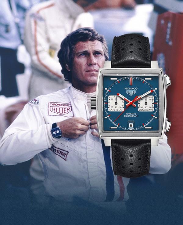 TAG Heuer Monaco 50-летие юбилей лимитированная коллекция 1970 часы аксессуары Стив Маккуин