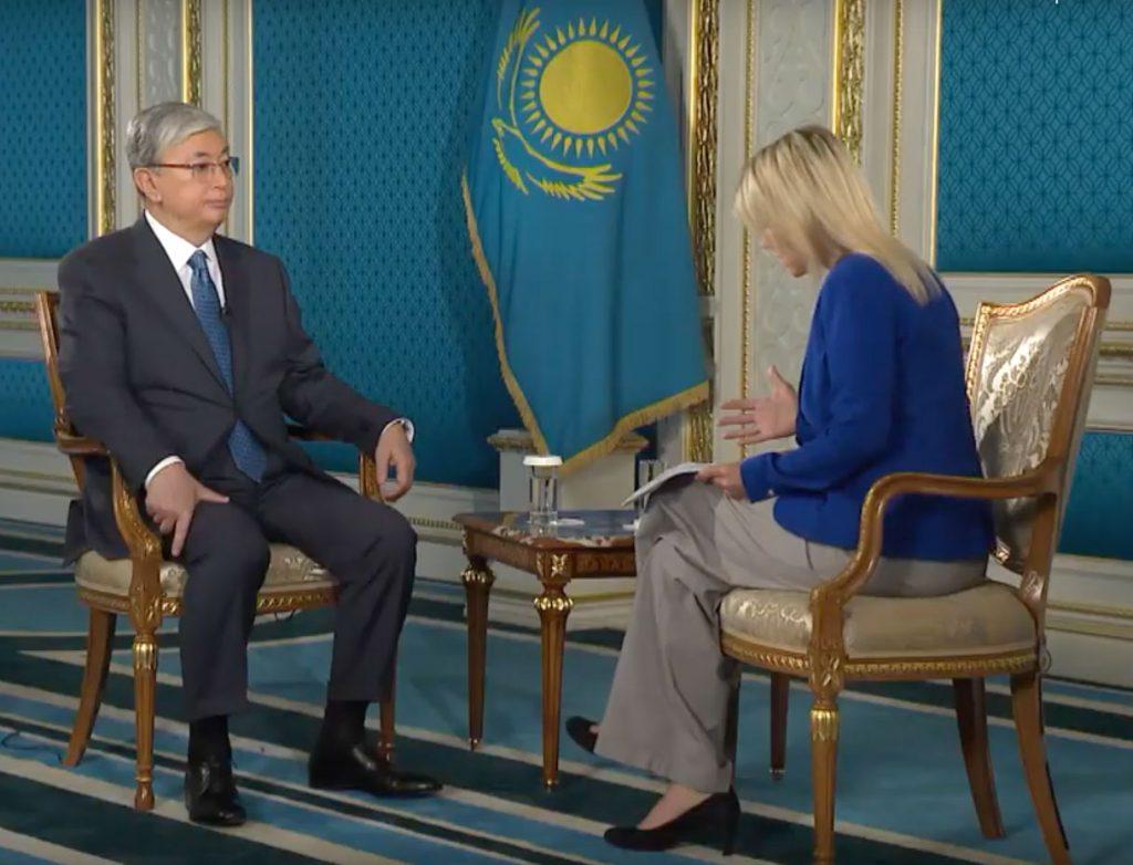 Токаев демонстрации митинги санкционированные Казахстан Euronews интервью президент