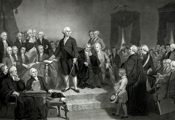 Джордж Вашингтон США президент история инаугурация присяга