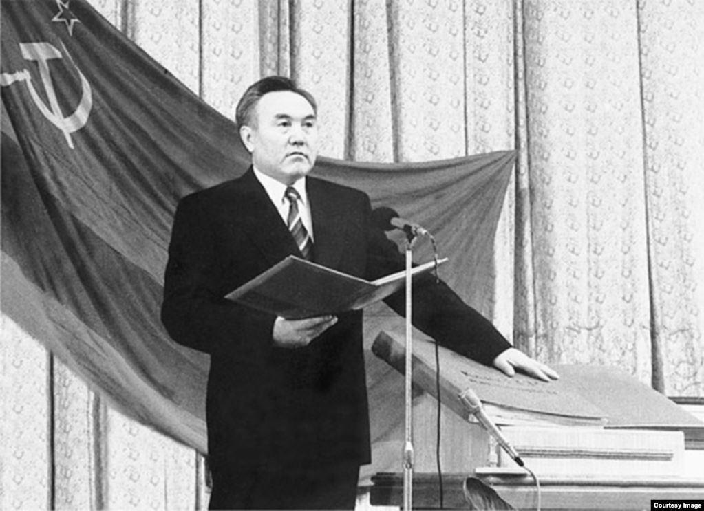 Нурсултан Назарбаев президент РК Елбасы инаугурация 1991 Казахстан история присяга
