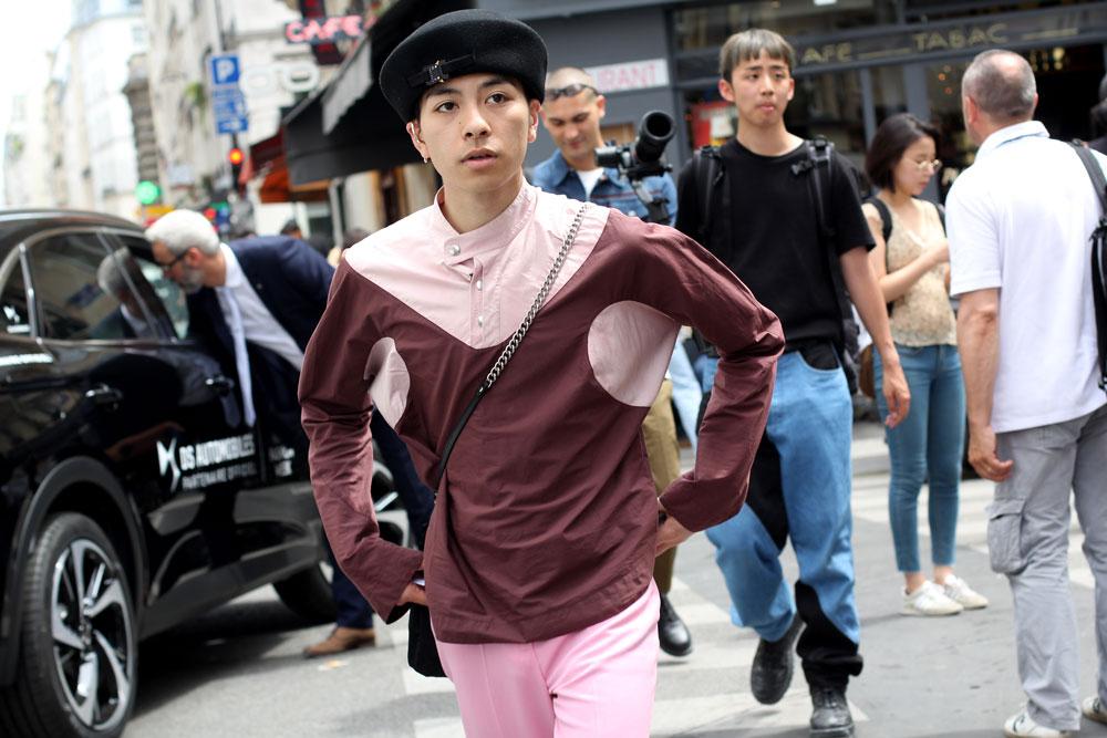 второй день недели мужской моды Париж 2019 одежда streetstyle