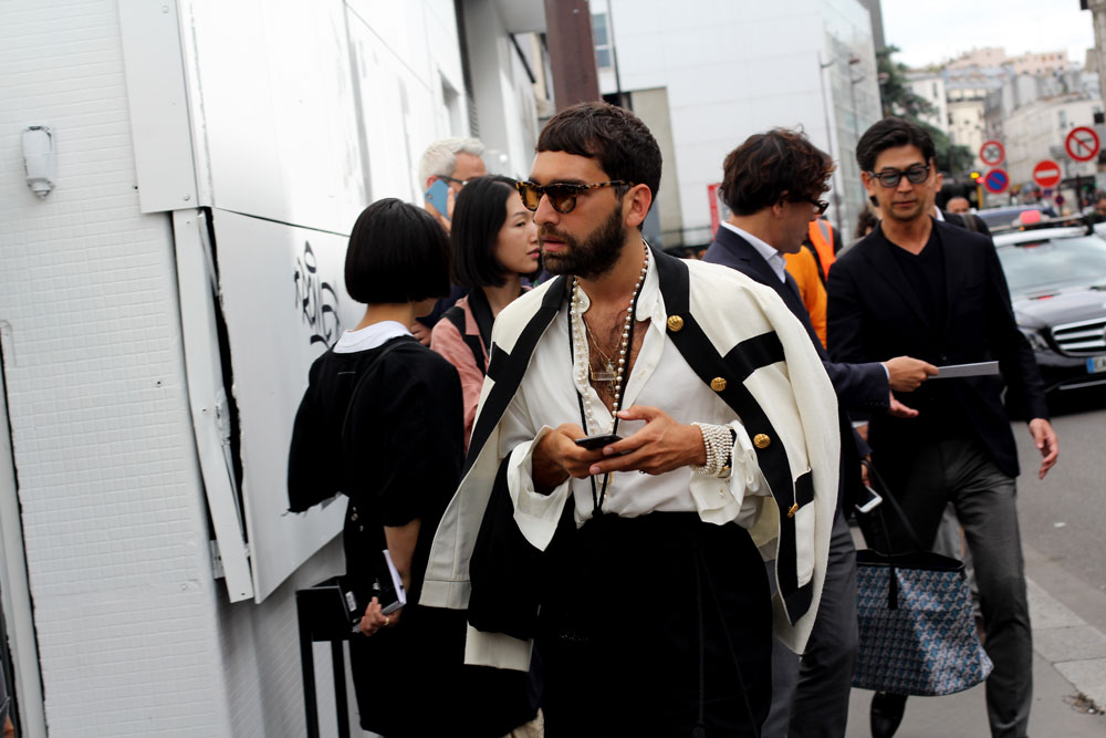 недели мужской моды Париж 2019 одежда streetstyle