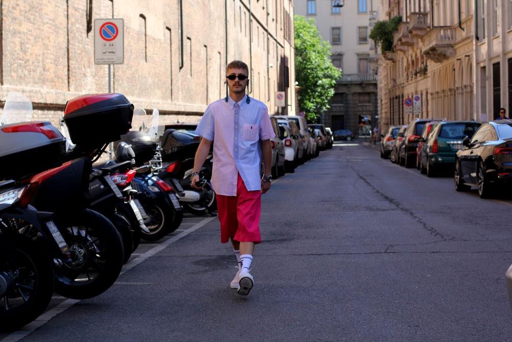 Первые дни Недели мужской моды в Милане: Streetstyle
