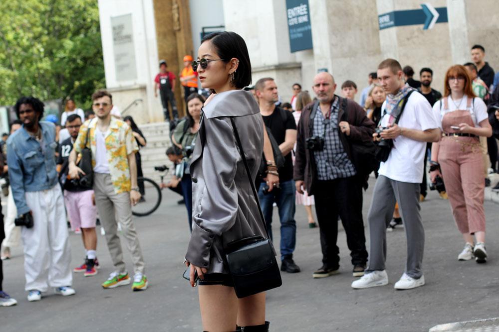 Недели мужской моды Париж Streetstyle одежда