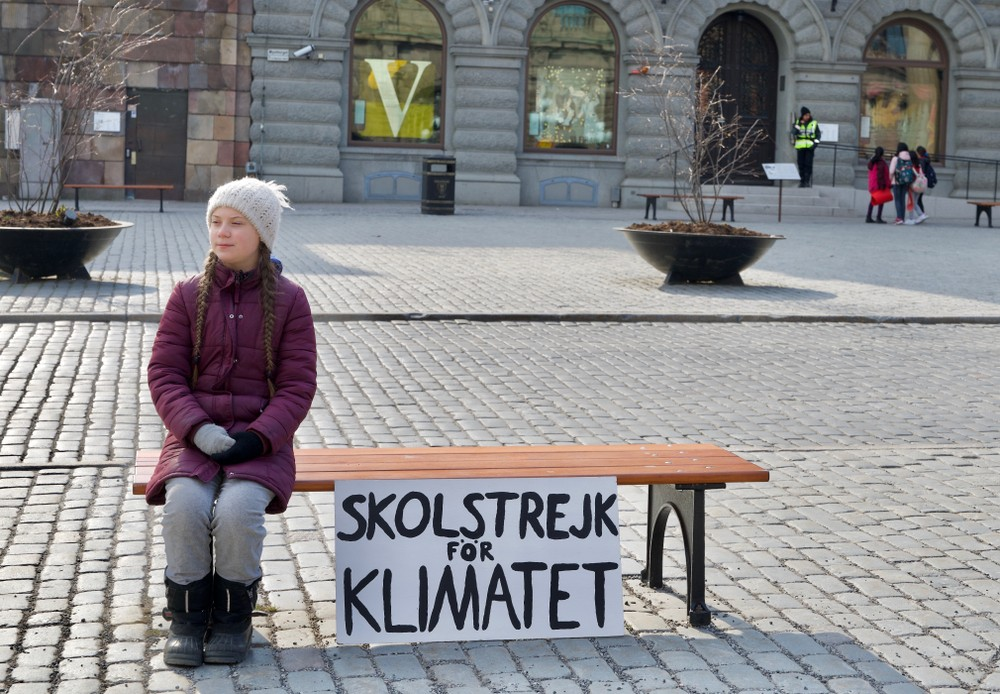 Грета Тунберг Швеция протесты мирные демонстрации плакат демократия власть народа