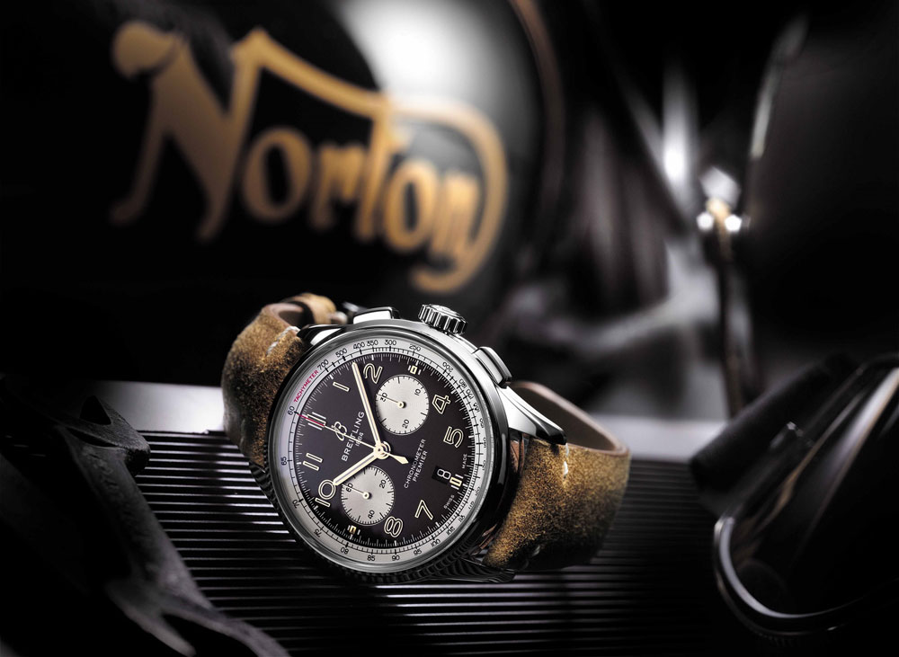 """Breitling Premier B01 Chronograph 42 Norton Edition"" заблокирована Breitling Premier B01 Chronograph 42 Norton Edition"