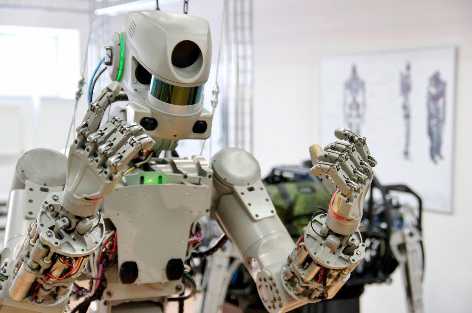 Робот Федор занял кресло пилота на корабле «Союз МС-14»