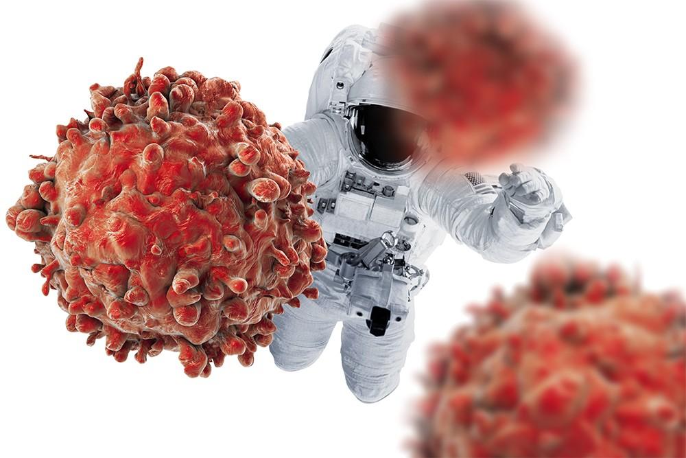 невесомость убивает рак