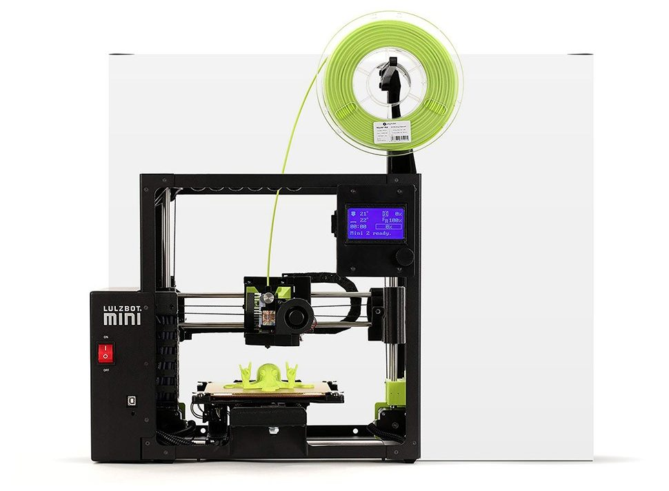 процесс поиска презента LulzBot Mini 2 3D-принтер