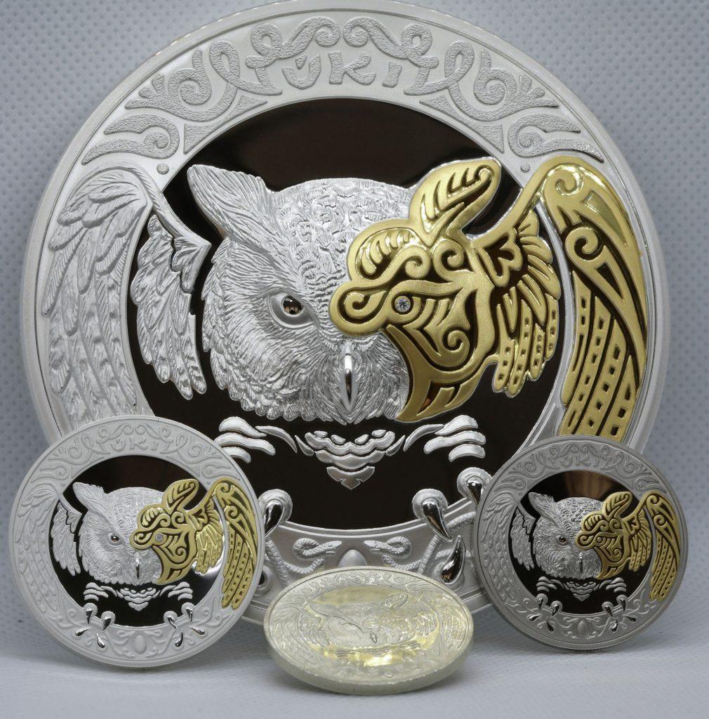 Коллекционные монеты с изображением тотемного животного представил Нацбанк РК