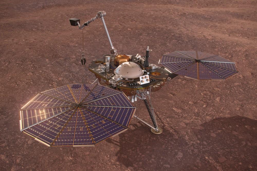 """зонд """"ИнСайт"""" на Марсе"""