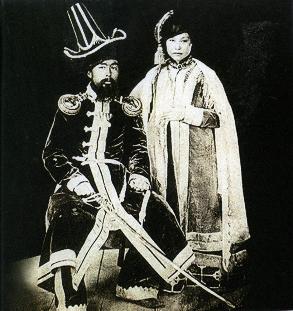 Жангирхан на коронации Николая I