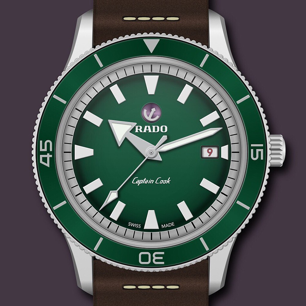 Часы месяца: Rado Tradition Captain Cook Green