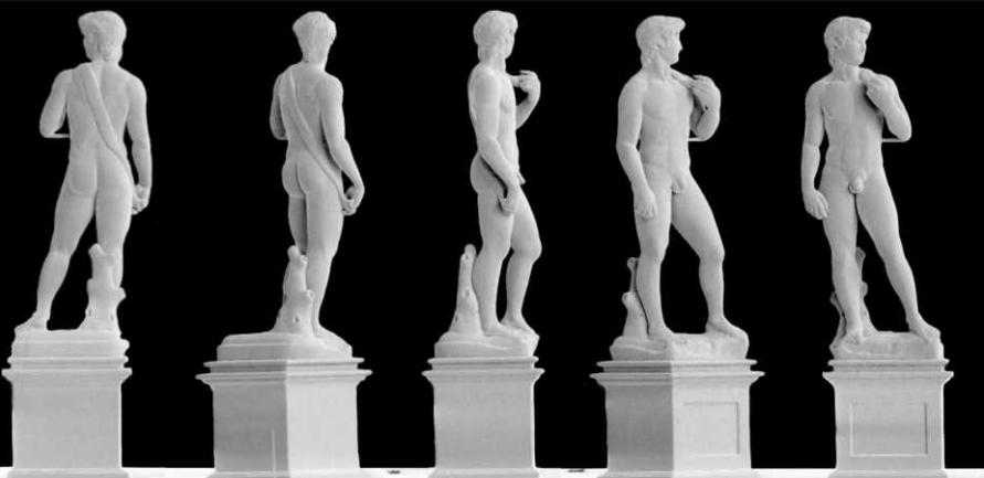"""Медная фигурка Микеланджело """"Давид"""", напечатанная на 3D-принтере"""
