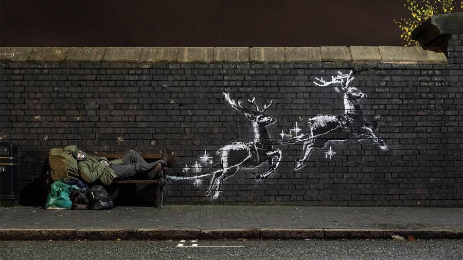 Бэнкси посвятил бездомным новый стрит-арт