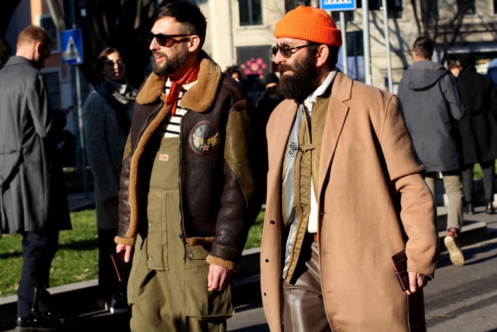 Милан мода streetstyle-образы