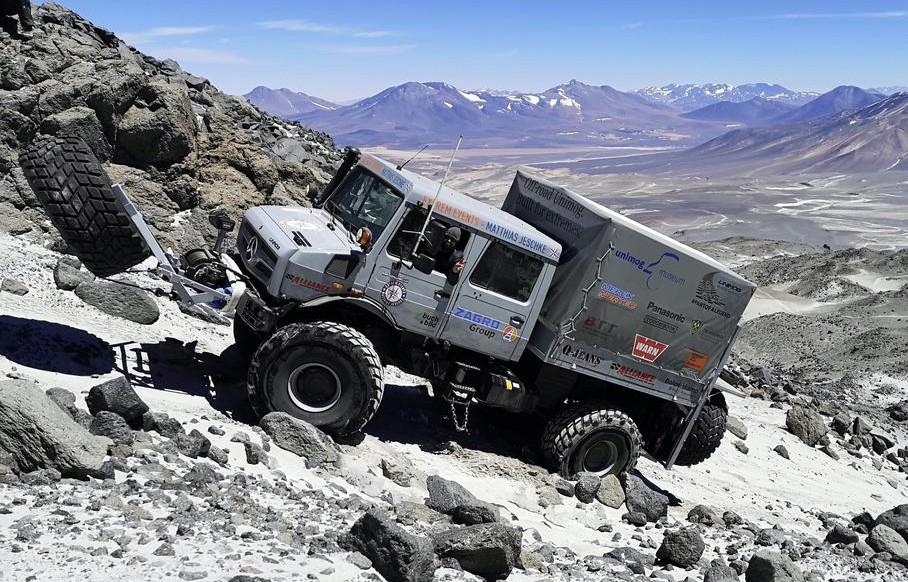Вездеход Unimog U 5023 установил рекорд высоты восхождения для автомобилей