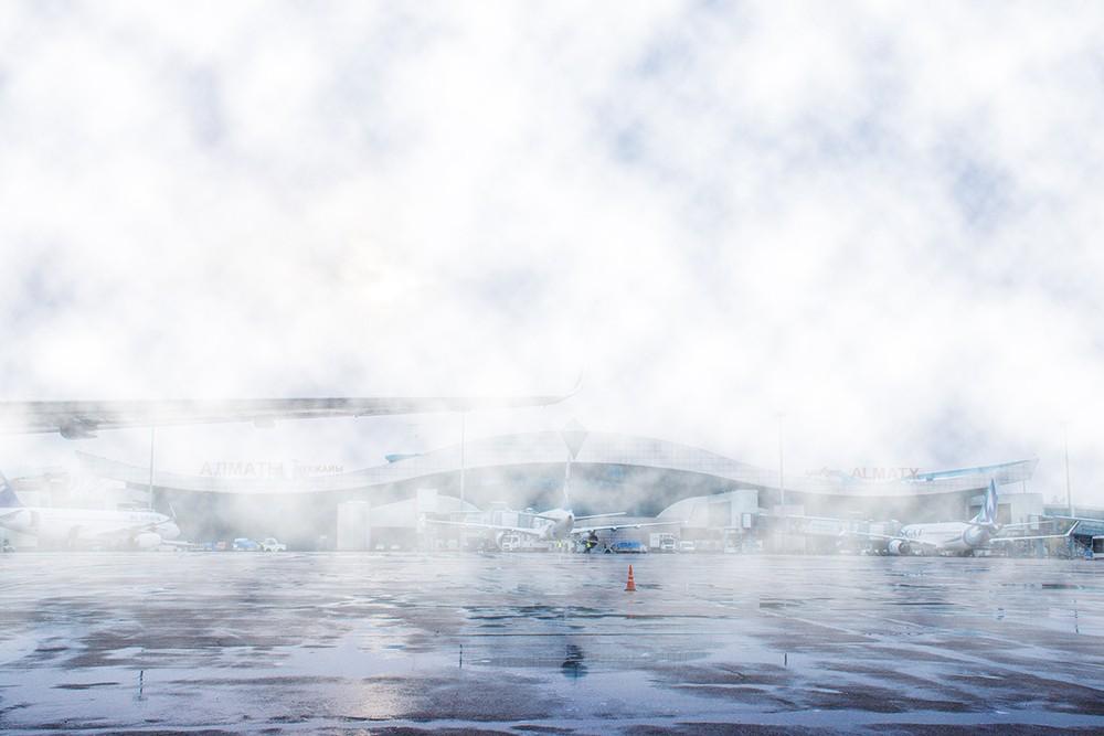 туман в аэропорту Алматы