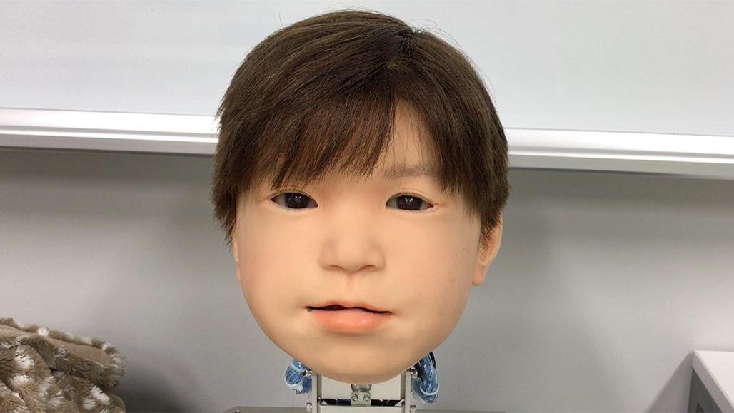 Японцы разработали робота-ребенка, он знает, когда ему делают больно