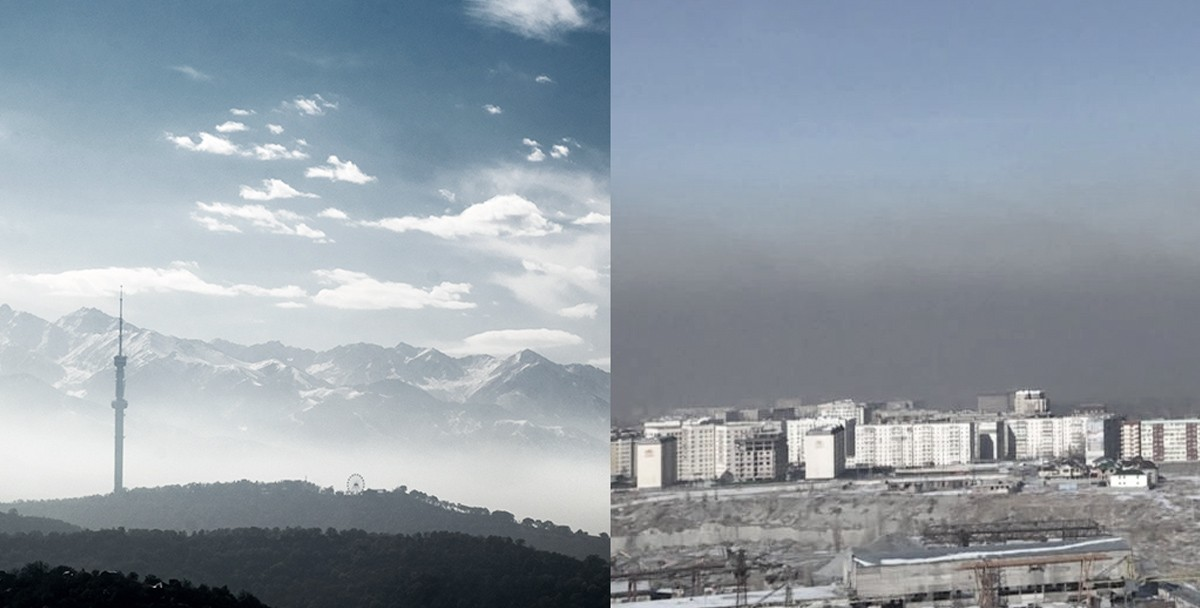 Смог в Алматы и Бишкеке: два подхода к одной проблеме