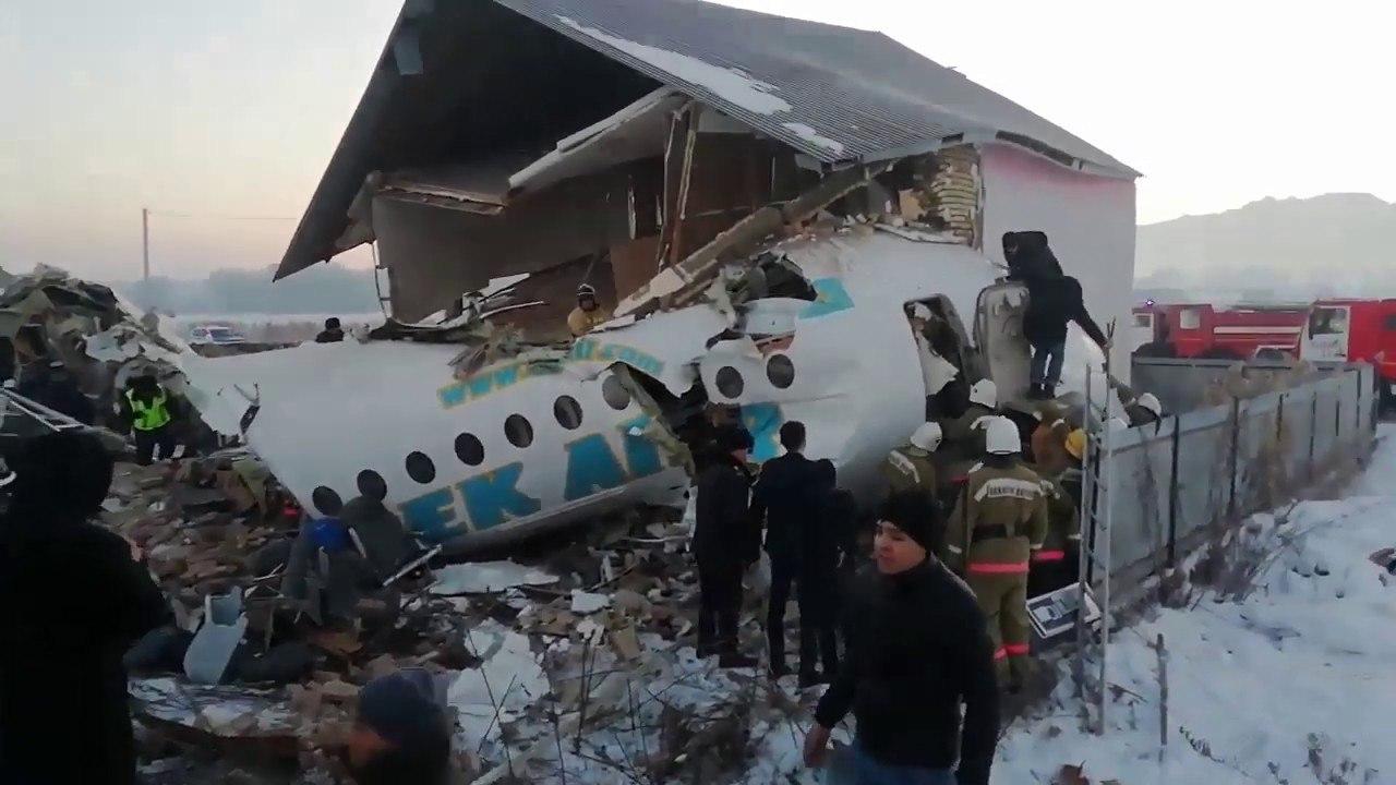 Bek Air будет судиться с владельцем дома, в который врезался самолет