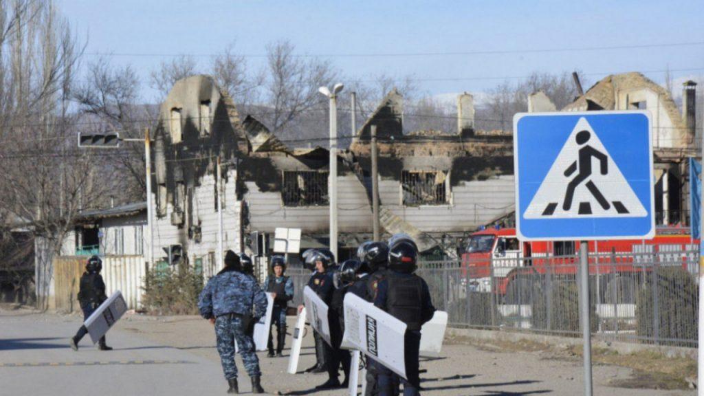 Кордай полицейские беспорядки задержали