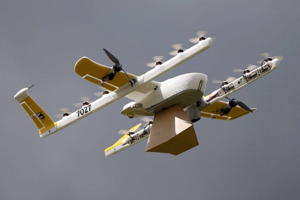 дроны Wing доставка