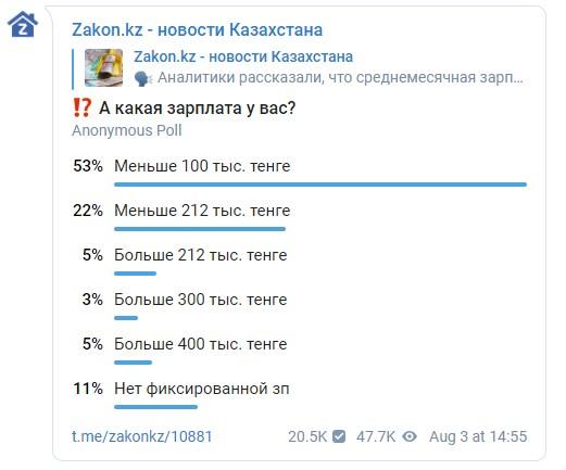 Сколько реально зарабатывают казахстанцы
