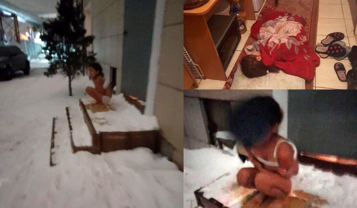 Астанчанка выгоняла раздетую дочку на мороз в качестве наказания