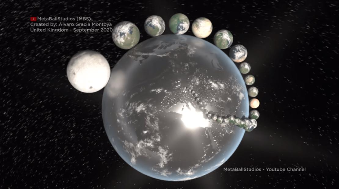 Испанский блогер изобразил страны в виде планет: как выглядят страноиды?