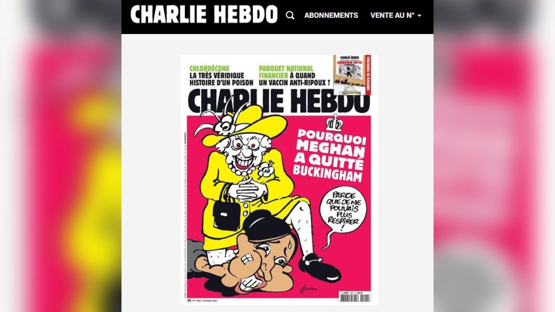 Charlie Hebdo опубликовал скандальную карикатуру на Елизавету II и Меган Маркл