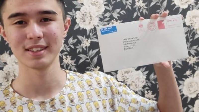 Школьник из Нур-Султана получил письмо от  Елизаветы II