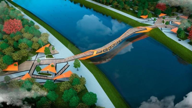 Кульгинов показал, как будет выглядеть новый велопешеходный мост в Нур-Султане