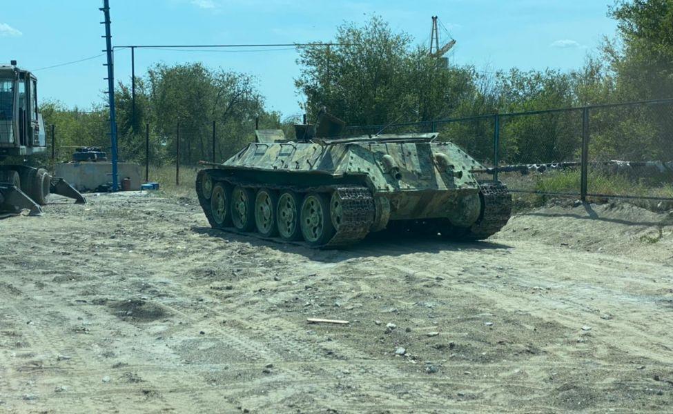 В Актобе в пункт приёма цветного металла сдали  Т-34